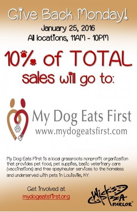 Give Back Monday - My Dog Eats First