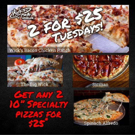 2 for $25 Tuesday!