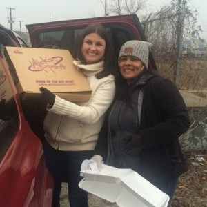Office Manager, Adrianne, and Marketing Director, Ashley, taking Wick's to the homeless camps in Louisville.