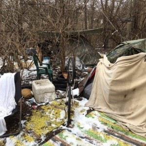 Louisville is lucky to have outreach from organizations like Fed With Faith, who provide tents and other necessities to homeless camps around town.