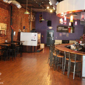 Wick's Pizza in New Albany Upstairs Bar and Party Room