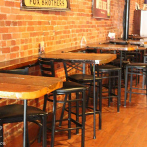 Wick's Pizza in New Albany Upstairs Pub/Band Side Hightop Tables, stage right